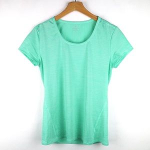 Athleta seafoam green short sleeve athletic shirt